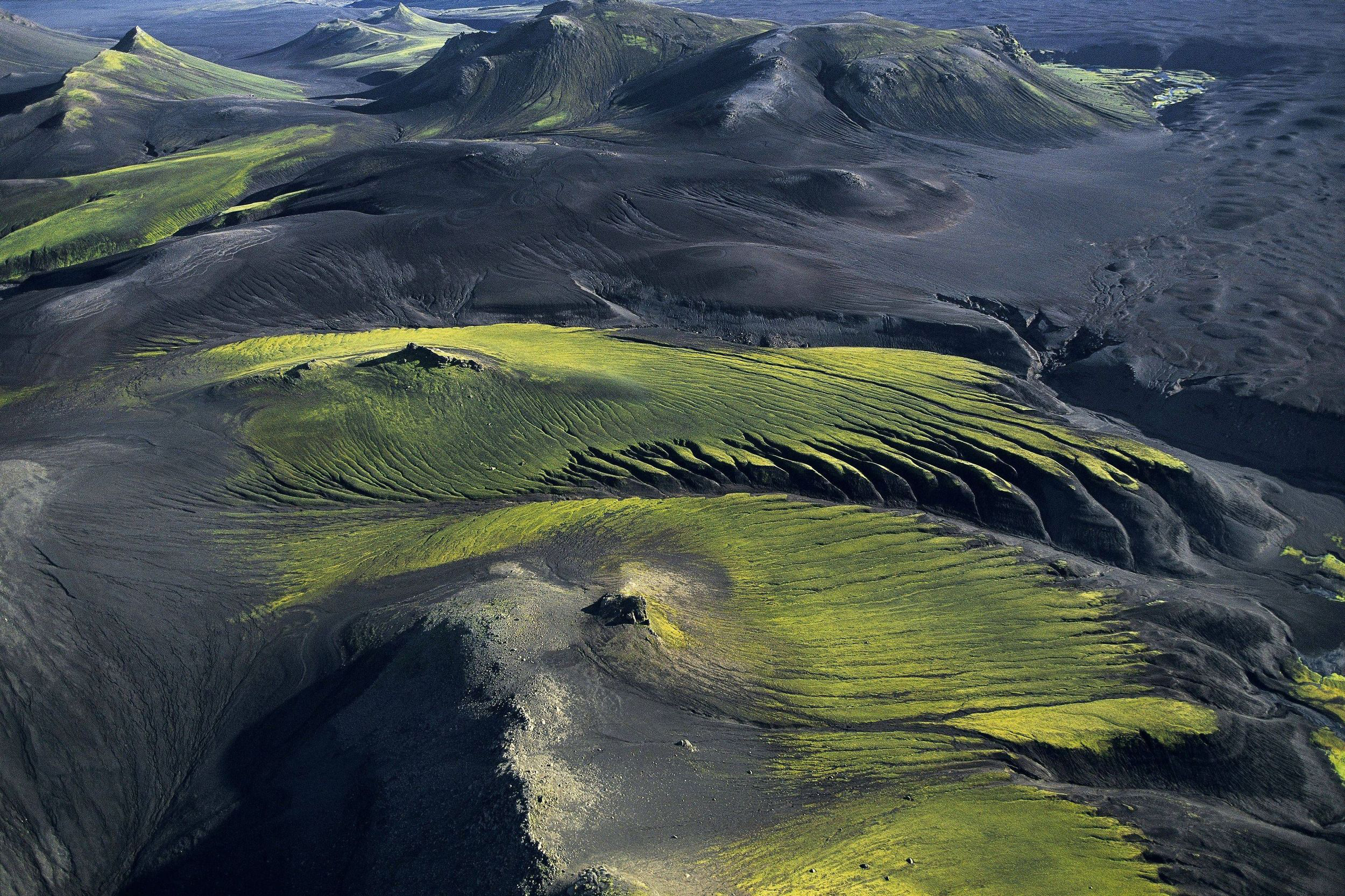 Paysage montagneux de l'Islande.